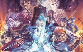 Обои ночь, судьба, аниме, битва, Fate Stay Night