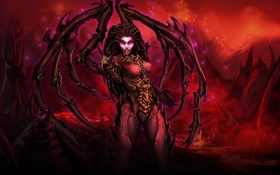 Обои Sarah Kerrigan, StarCraft, Queen of Blades, Zerg