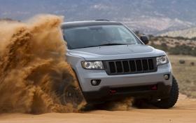 Картинка песок, джип, grand, jeep, cherokee, mopar, гранд чероке