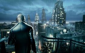 Картинка ночь, город, дождь, hitman absolution