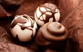 Обои фото, еда, шоколад, конфеты, сладости