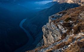 Обои горы, природа, река, россия, кавказ, дмитрий чистопрудов, дагестан