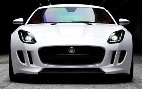 Обои Concept, Jaguar, Белый, Машина, Концепт, Ягуар, Автомобиль