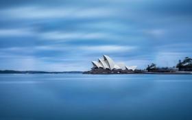 Картинка море, небо, голубой, Сидней, sidney