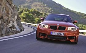 Обои Авто, Дорога, BMW, БМВ, Оранжевый, Капот, День