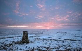 Картинка Sunrise, Peak District National Park, Mam Tor