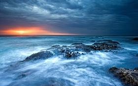 Обои море, небо, закат
