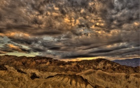 Обои пейзаж, горы, United States, California, Death Valley