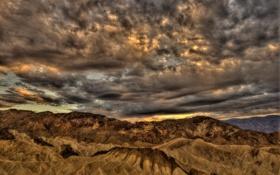 Обои Death Valley, пейзаж, United States, горы, California