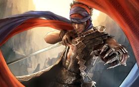 Картинка горы, игры, обои, меч, фэнтези, перчатка, Prince of Persia