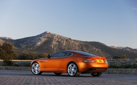 Обои Aston Martin, астон мартин, Orange, cars, auto, ораньжевый, Aston Martin Virage
