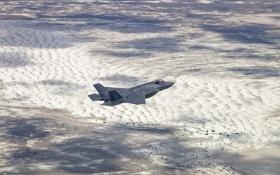 Обои F-35, Lightning II, истребитель, бомбардировщик, ландшафт