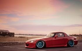 Картинка закат, S2000, Honda, небо