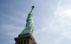 Обои свобода, город, статуя