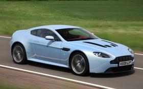 Обои дорога, авто, Aston Martin, Vantage, V12