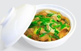 Обои лук, рыба, морепродукты, fish, жаркое, onions, Seafood