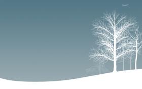 Обои самолёты, авиация, деревья, зима, зимние обои, снег, настроение