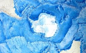 Картинка океан, карта, Антарктика, рельеф