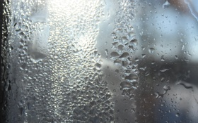 Обои стекло, вода, туман