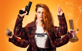 Обои пистолет, фон, дым, граната, руки, куртка, сигарета