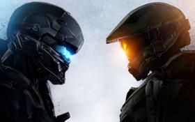 Картинка игра, солдаты, эксклюзив, Мастер Чиф, Halo 5: Guardians, агент Лок