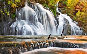 Картинка осень, водопад, waterfall, navajo falls