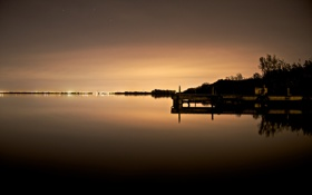 Картинка вода, фото, обои для рабочего стола, ночные пейзажи