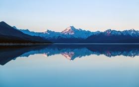 Картинка Горы, отражение, озеро, природа
