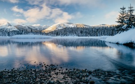 Обои New Day Rising, Washington, Gold Creek Pond - Hyak