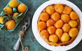 Обои пирог, абрикосы, Julia Khusainova, еда, сладкое, выпечка, фрукты