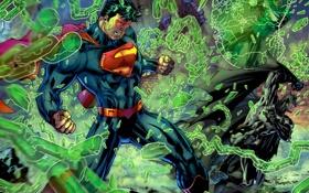 Картинка бэтмен, супермен, зелёный фонарь