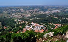 Картинка панорама, Португалия, Sintra