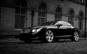 Обои bentley, black, avto, continental gt s