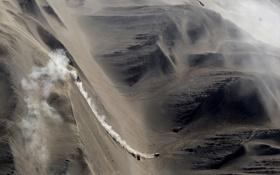 Обои песок, авто, пейзаж, обои, гонка, спуск, спорт