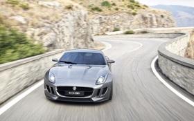 Картинка дорога, скорость, Jaguar, cars, auto, 2011, гибрид
