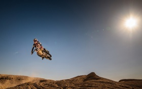 Обои гонка, мотоцикл, спорт