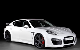 Картинка белый, тюнинг, Porsche, Panamera, суперкар, Techart, фото авто