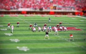 Обои футбол, игра, американский, tilt shift, стадион