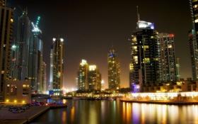 Обои небо, здания, вечер, Dubai