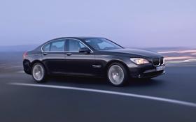 Обои Авто, Дорога, Черный, BMW, Бумер, БМВ, Седан