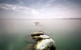 Картинка пейзаж, озеро, камни