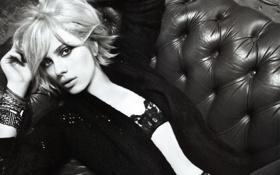 Картинка черно-белая, Scarlett Johansson, блондинка, скарлетт йоханссон