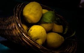 Картинка макро, лимон, фрукт