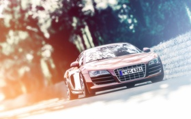 Картинка Audi, ауди, red, красная, гран туризмо, PlayStation, Gran Turismo 6