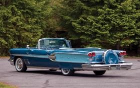 Картинка кабриолет, вид сзади, Pontiac, Понтиак, Convertible, 1958, Parisienne