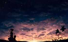 Обои небо, солнце, облака, утро, горизонт, раннее, перед рассветом