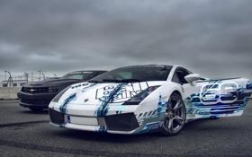 Обои Lamborghini, Gallardo, camaro, chevrolet, Supercars