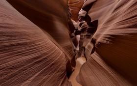 Картинка скалы, текстура, США, штат Аризона, каньон Антилопы