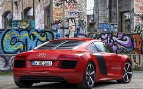 Картинка Audi, ауди, Prototype, автомобиль, задок, мощный, e-Tron
