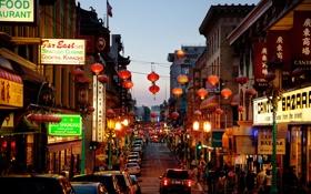 Обои люди, Калифорния, Сан-Франциско, автомобили, улицы, магазины, быт